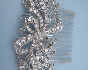 Bridal hair comb Rhinestone Wedding hair accessory vintage Wedding hair comb Crystal Wedding headpiece Bridal hair accessory Wedding comb