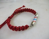 Red, Thin Type Friedship,Barber Pole Bracelet