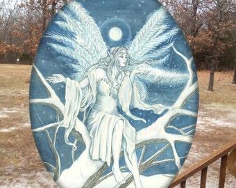 Midnight Ice Faerie Glass Suncatcher