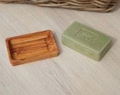 Olive Wood Rectangular Soap Dish