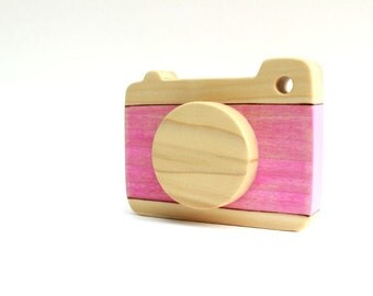 wood camera toy, pretend camera, wooden baby toys, toddler camera, waldorf toys