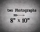 Wall Decor Set of 2 Prints at 8 x 10 - 30% off - Photography Set