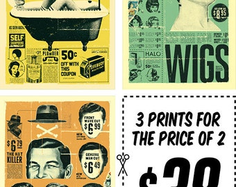 Retro Ad Prints Series