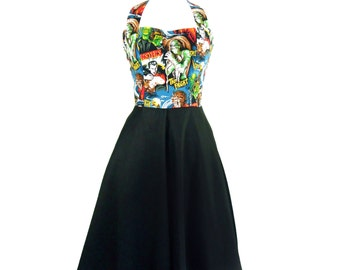 Pinup Full Circle Classic Horror Monsters Dress