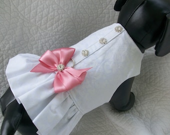 Wedding Dog Harness  Ruffled  Harness for Dog or Cat Outfit