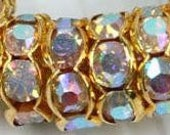 SALE - Shop Closes TODAY - 180 Roundelle Gold Wave ab Crystal - 10mm Round Spacers Rondelle Beads