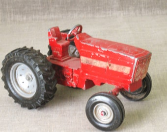 Tractor , Toy , Ertl , Cast Metal , Tractor , Metal Toy , Cast Metal Tractor , Farm Toy , Die Cast Toys , Red Tractor , Vintage Toys