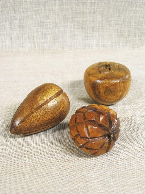 Wooden fruit hand carved wood by wilshepherd