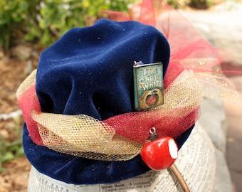 Steampunk Mini Hat Fascinator- Snow White