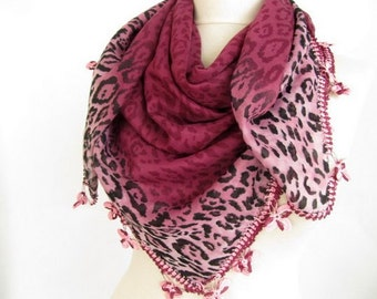 plum scarves - Square scarves -Turkish Oya  Scarf / wedding gift - asuhan - woman scarf - cotton scarf