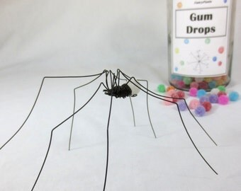 White Long-Legged Clove GumDrop Spider Repurposed Sculpture