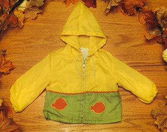 Daddy's Fishing Buddy Vintage Unisex Baby Hooded Rain Coat for Baby Boys Baby Girls in Size 12 months 18 months