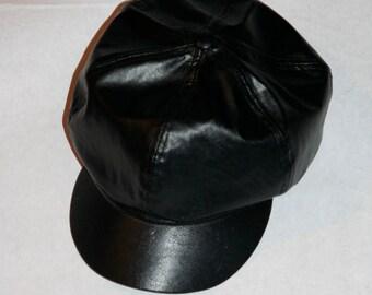 Awesome Vintage Vinyl Biker Hat- Size M/L