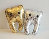Metallic Gold or Silver Baby T molar magnet