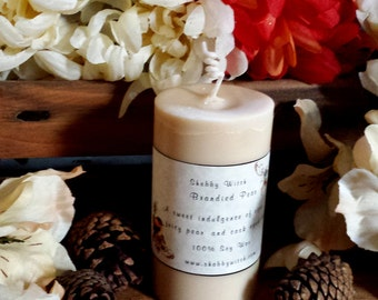 Brandied Pear Pillar Candle, Mabon Candle, Fall Candle