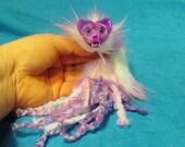 Partial Rainbow Fur Kitty Quetzl Dragon Nestling #13