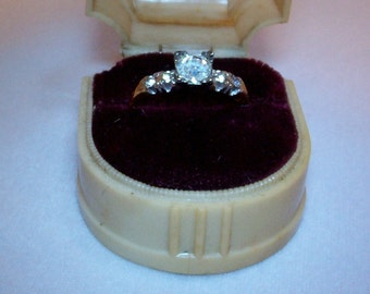 Ring, 10k Gold Electroplate Over Sterling, Size 7. # 102