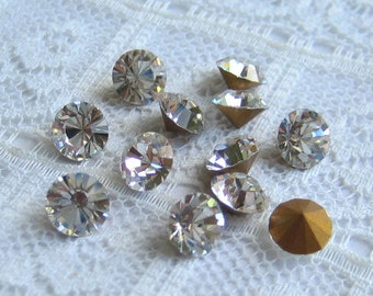 LOW STOCK SS24 Crystal Clear Swarovski Round Loose Rhinestones Style #1012