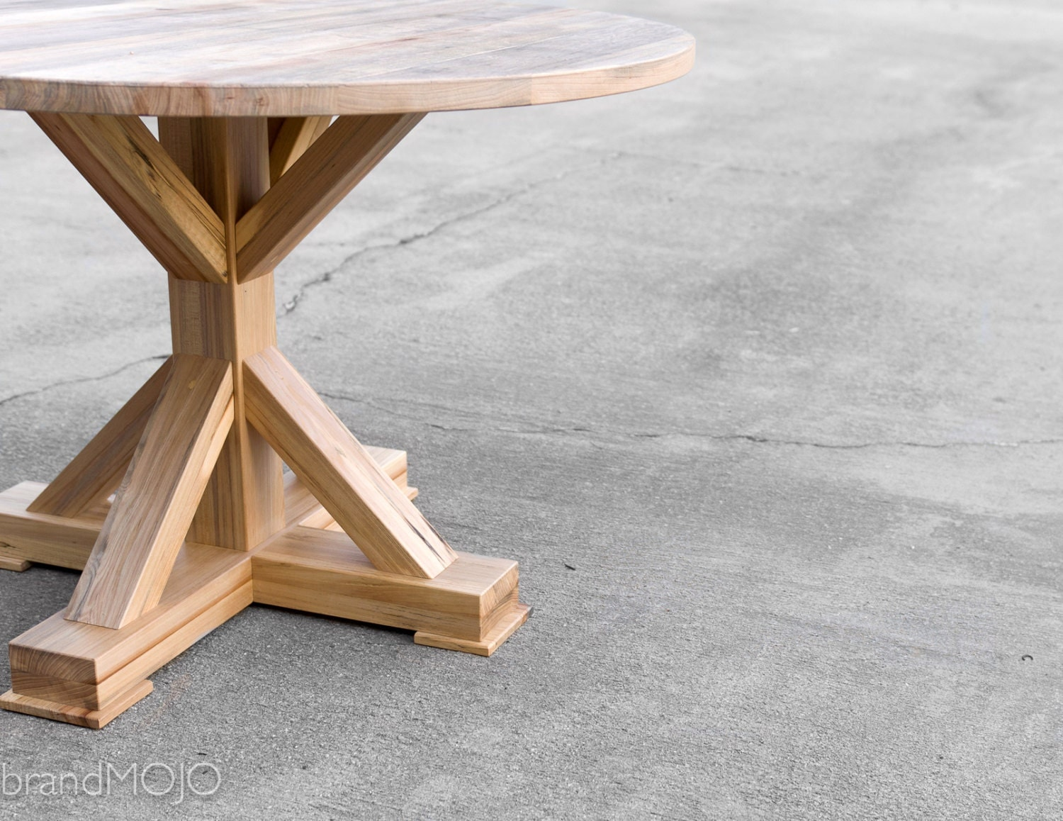 Round Dining Table Reclaimed Wood The Kinzua Custom