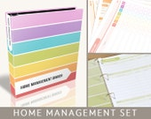 Home Organizer Binder, Printable Pages, 50 Editable PDF Files, Instant Download