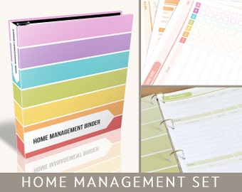 Printable Household Binder, Editable PDF Files, Instant Download