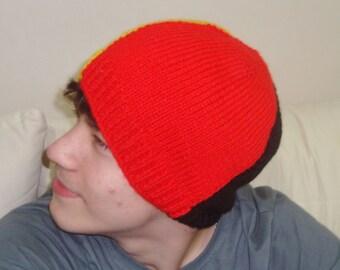 Knit Belgium Flag Hat - Hand knit Belgium hat handknit beanie hat - Belgium gifts