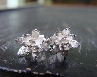 Small Field Flower Posts  -- Botanical Jewelry -- Nature Cast -- Ready to Ship