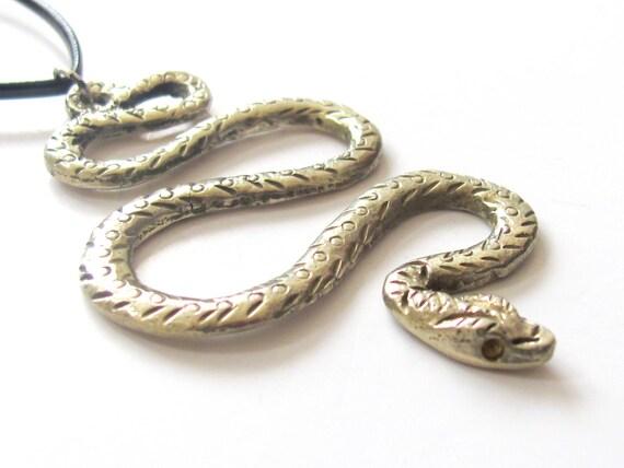 Tibetan Silver plated Snake pendant - CP017