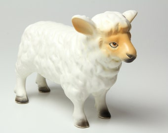 Ceramic Sheep Figurine - Large White Lamb