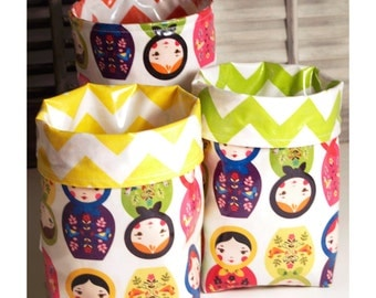 Wastebasket car trash can car garbage bag craft thread catcher laminated cotton waterproof WASTIE Little Kukla Russian stacking dolls