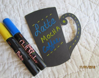Blue Chalkboard Markers-  Blue Chalk Pen-Bistro Chalk Marker for writing on Vinyl Chalkboard