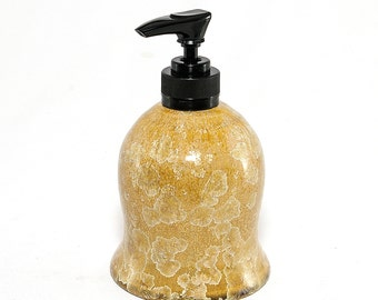 "Crystalline Glaze:  "" Light Honey Butter""  Soap dispenser"