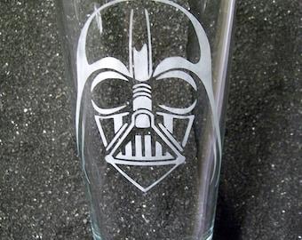 Star Wars Darth Vader etched pint beer glass tumbler