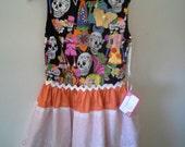 SALE on Sample Girls Day of the Dead Sugar Skull Tattoo Inspired Dress