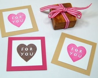 Solid Heart - FOR YOU Olive Wood Stamp