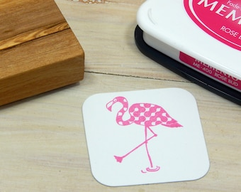 Fancy Flamingo Olive Wood Stamp