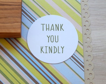 Thank You Kindly Olive Wood Stamp
