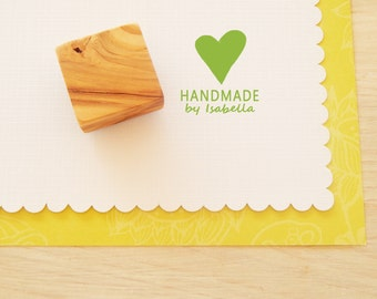 Custom Solid Heart Handmade By Olive Wood Stamp
