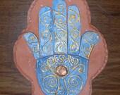 Hamsa Ceramic Wall Tile