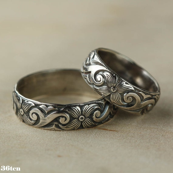 Art Deco Ring, Wedding Ring, Sterling Silver Band