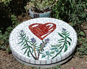 how to make mosaic stepping stone for the farden youtube