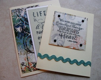 life is art and beautiful things blank cards