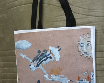 Alice and The Queen tote-bag