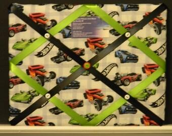 11 x 14 Hot Wheels Racing Cars Memory Board