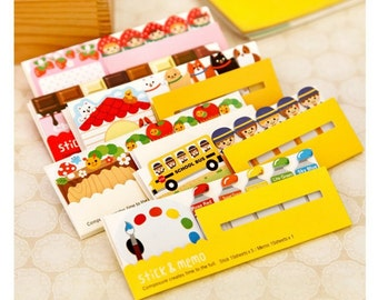 Post it and bookmarks sticky notes - stick and memo