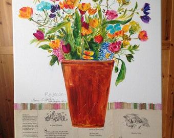 Rejoice! Colorful Bouquet in Terracotta