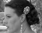 wedding comb,BRIDAL fascinator ,,wedding hair piece, crystal hairpiece,bridal head piece with SWAROVSKI Crystals -