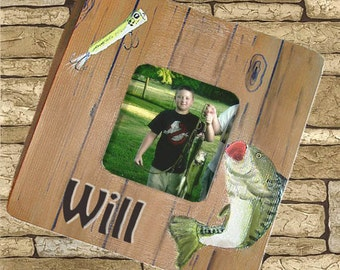 Personalized Hand Painted Fishing Frame