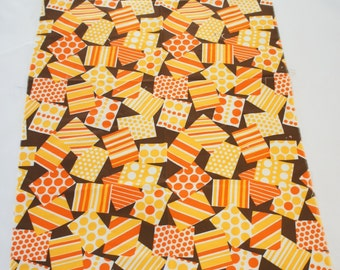 Vintage 60s Fabric Remnant/ Retro/ Mid Century/ Mod