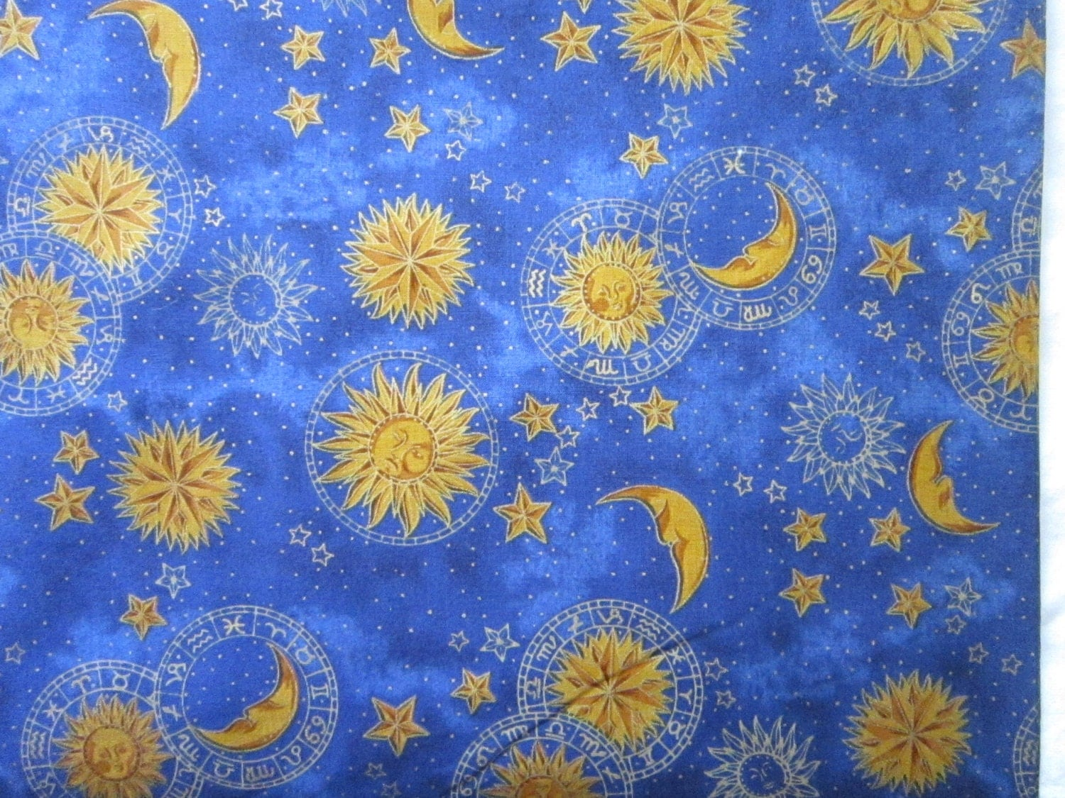Hoffman celestial fabric yards x 44 inches by for Celestial pattern fabric
